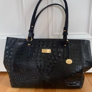 BRAHMIN DESIGNER BAG Black Leather Shoulder Bag